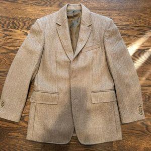 Men's Brown Herringbone Blazer J. Crew: Small